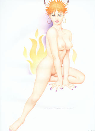 Pin-up Art by Archie Dickens