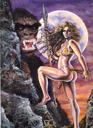 Cavewoman Klyde and Meriem by Bud Root