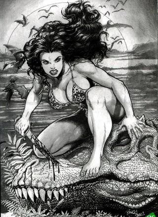 Cavewoman Prehistoric Pinups by Bud Root