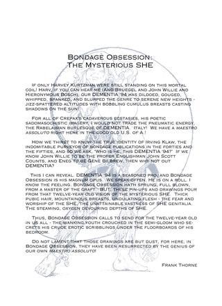 Bondage Obsession 1 by Dementia