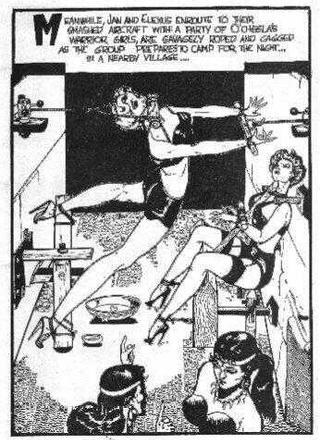 Brutal Punishment For Captive Girls by Eric Stanton