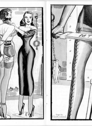 Cruel Mrs Tyrants bondage school by Eric Stanton