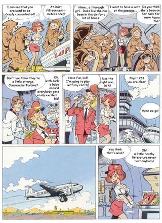 Stripstewardess by Jaap de Boer