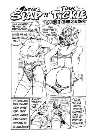 Suzie Slap and Tina Tickle The Dirtiest Cleaners in Town by Jose Maqueros