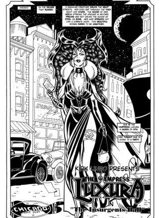 Luxura in The Insurgents Ball by Kirk Lindo