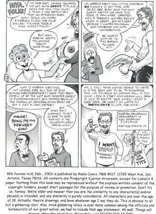 Big Funnies 8 by Kjartan Arnorsson