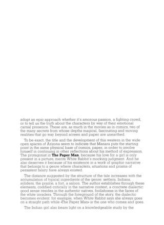 Paper Man by Milo Manara