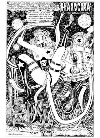 Hardcora Queen Bitch of Outer Space by Wes Crum