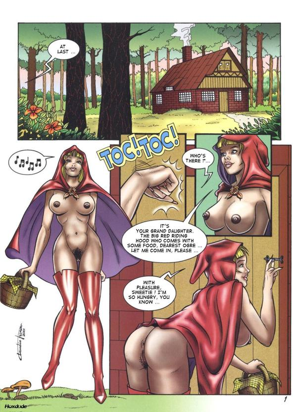 Nude red riding hood