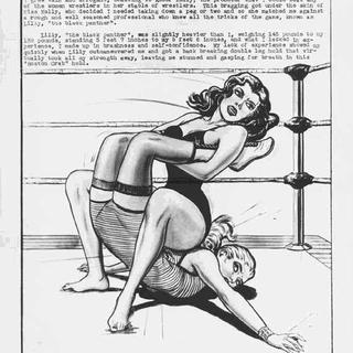 Diary Of A Lady Wrestler by Eric Stanton