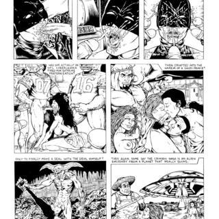 Secret Origin of the Crimson Gash by Sandez Rey